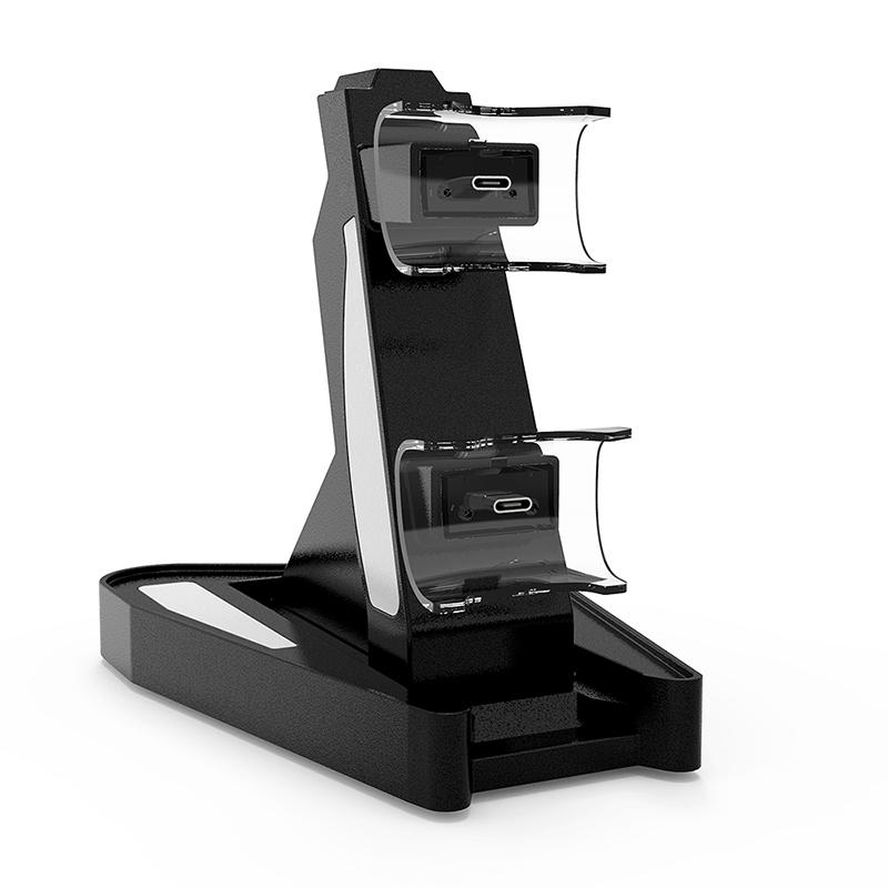 Für PS5 Wireless Controller Ladegerät PS5 Game Controller Ladegerät PS5 Dual-Ladegerät mit Konvertierungskopf LED-Licht schnell