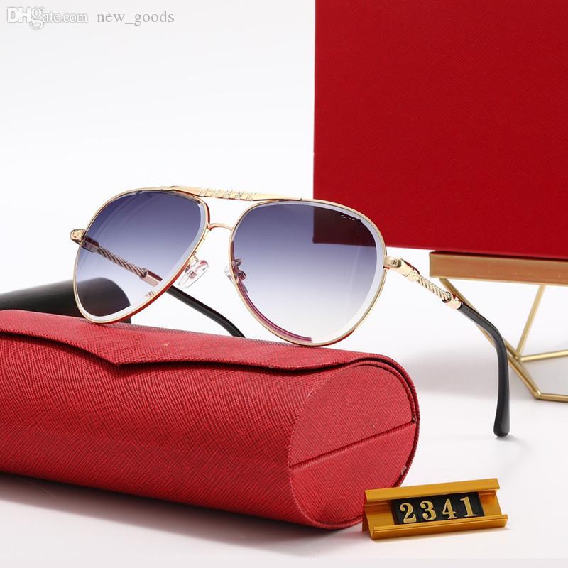 Hohe Qualität Designer Womens Sonnenbrille Luxus Alte Sonnenbrille Herren Mode Fahren Polaroidlinsen Gläser Adumbral mit Kasten 20 Colors