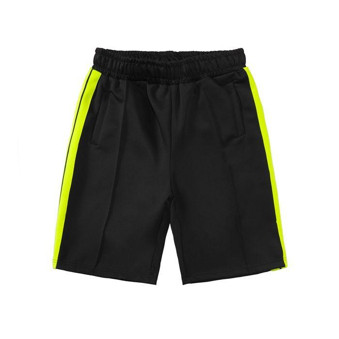2021 Casual Plaj Şort Mens Bayan Tasarımcı Kısa Pantolon Giysi Mektup Baskı Gökkuşağı Şerit Dokuma Rahat Beş Nokta FS023