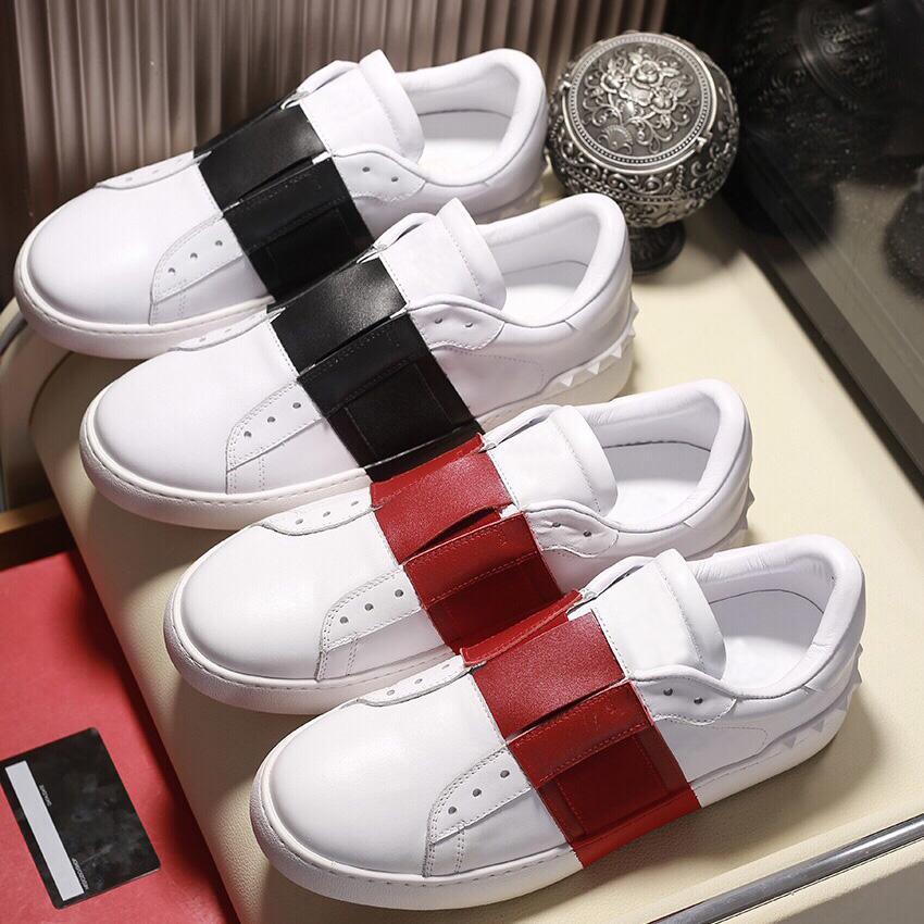 Çiftler Elbise Ayakkabı Sneaker Moda Erkekler Kadınlar Deri Nefes Rahat Ayakkabı Açık Düşük Spor Sneakers ile Kutusu Büyük Boy 35-46