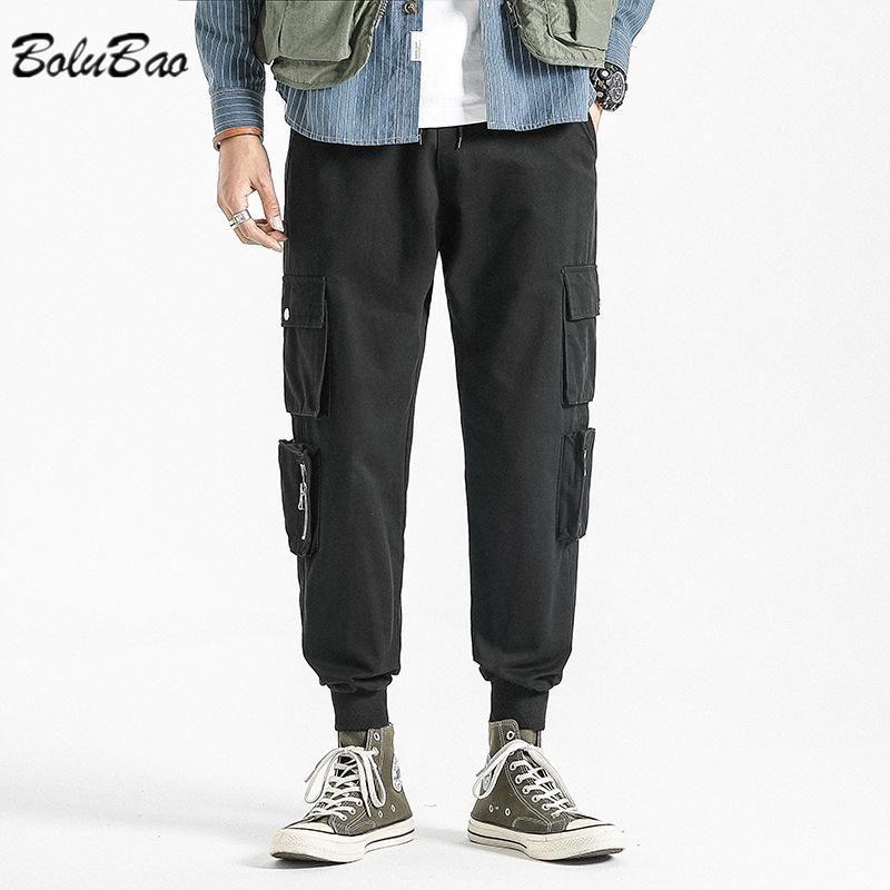Pantaloni da uomo Bolubao Casual Uomo Streetwear Solid Color Multi-tasche Attrezzature giapponesi Pantaloni in stile Attrezzatura di alta qualità uomo sciolto