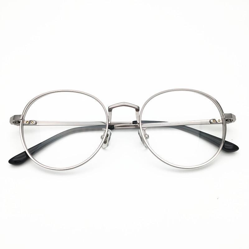 01 Cleanight Optical Vintage Round Classico Corea Design Korea Titanio Eyeglasses Frame Uomo Occhiali da vista Occhiali da prescrizione Trasparente