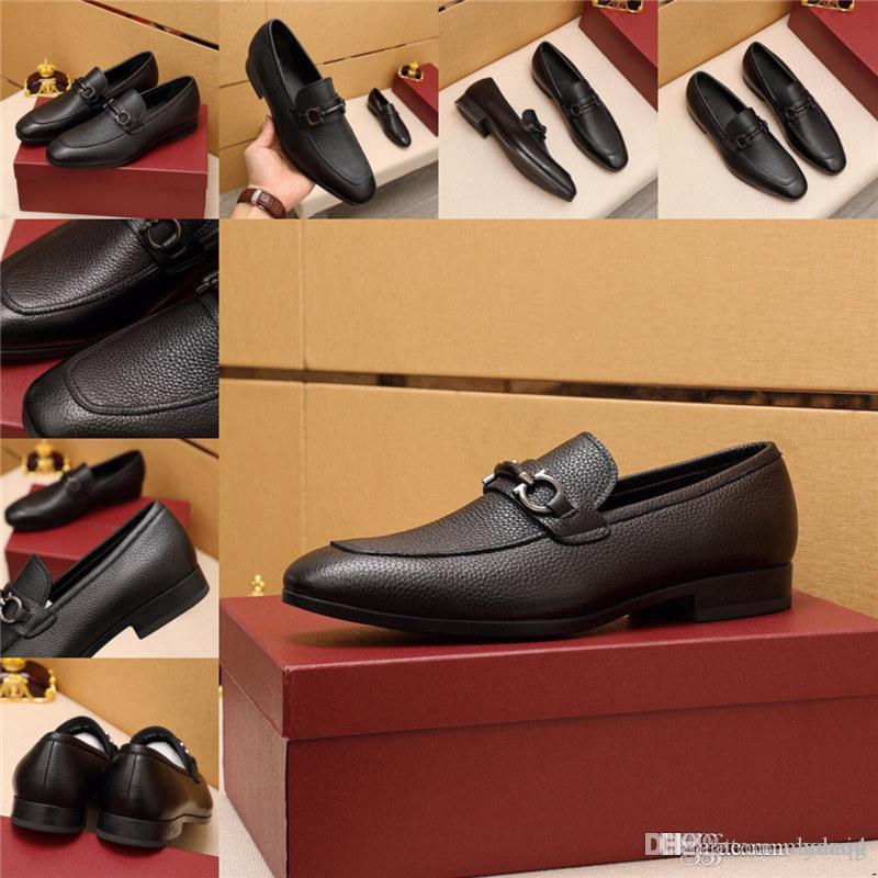 MM Summer Hommes Cuir Cuir Designers Robe Chaussures Chaussures d'affaires Hommes Style Italien Chaussures Hommes Chaussures Mâle Chaussures Mâle Footwear 21SS Nouveau WER 33