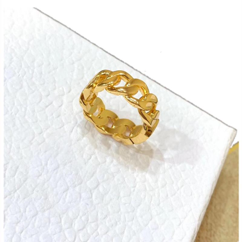 2021 Fashion designer jewelry gold band letter love rings hoop for lady women party wedding copper charm lovers gift Luxury engagement jewellery with box