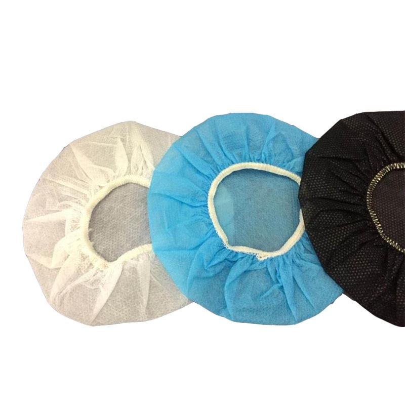 100 teile / sack Einweg Kopfhörerabdeckung Vlies Ohrenschützer Kissen 10-12cm Headset Einweg Kopfhörer Ohrabdeckungen 10Pack / Los