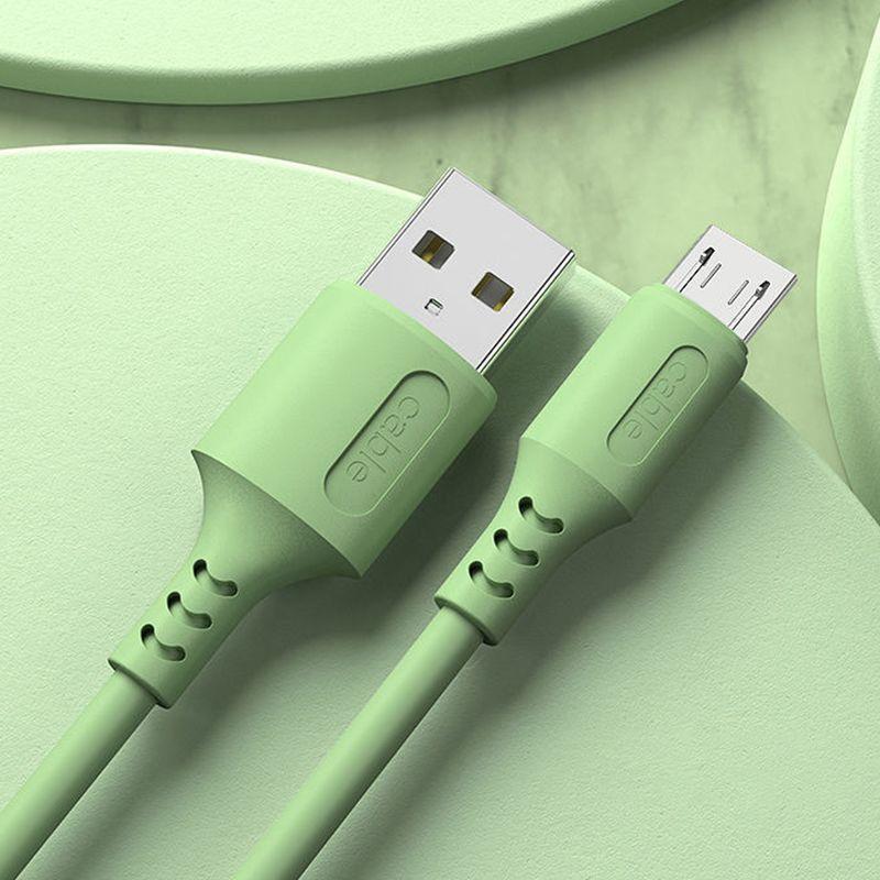 جودة عالية 2a الهاتف المحمول تهمة الكابلات نوع-c الصغيرة كابل سيليكون USB 1M لون نقي نقل البيانات بالجملة