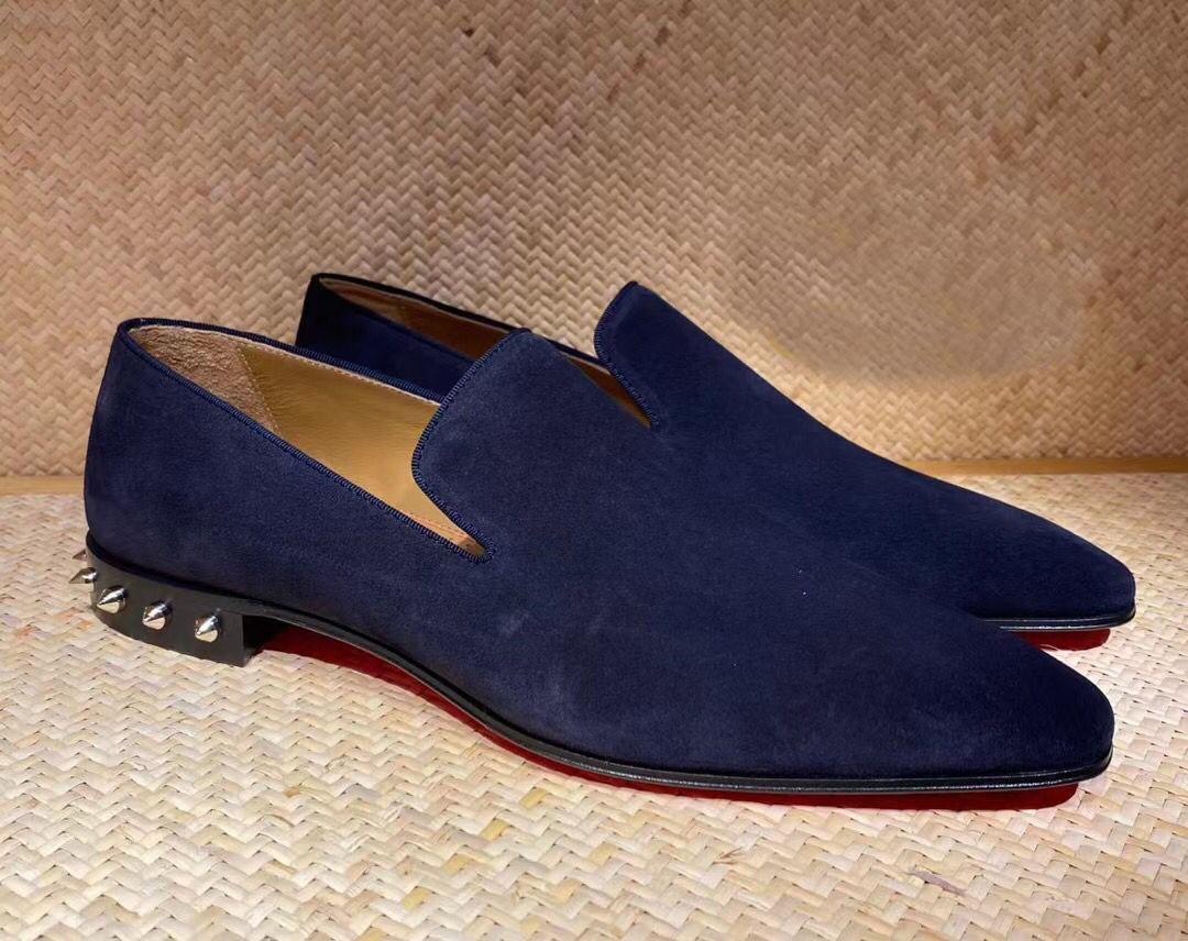 Elegante caballero carpetas mocasin zapatos marcas para hombre rojo bottm de ventiladores picos caminando pisos lujoso diseñador fiesta boda eu35-47