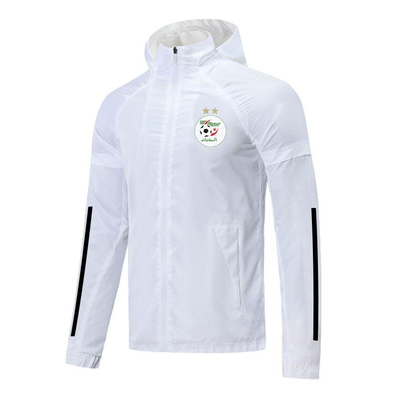 2021 Algeria Soccer Pieno Zipper Zipper Giacca con cappuccio Giacca a vento Sport Inverno Nuovo Felpa con cappuccio Giacche da calcio Allenamento Cappotto Felpa Giacche da uomo Giacche da uomo