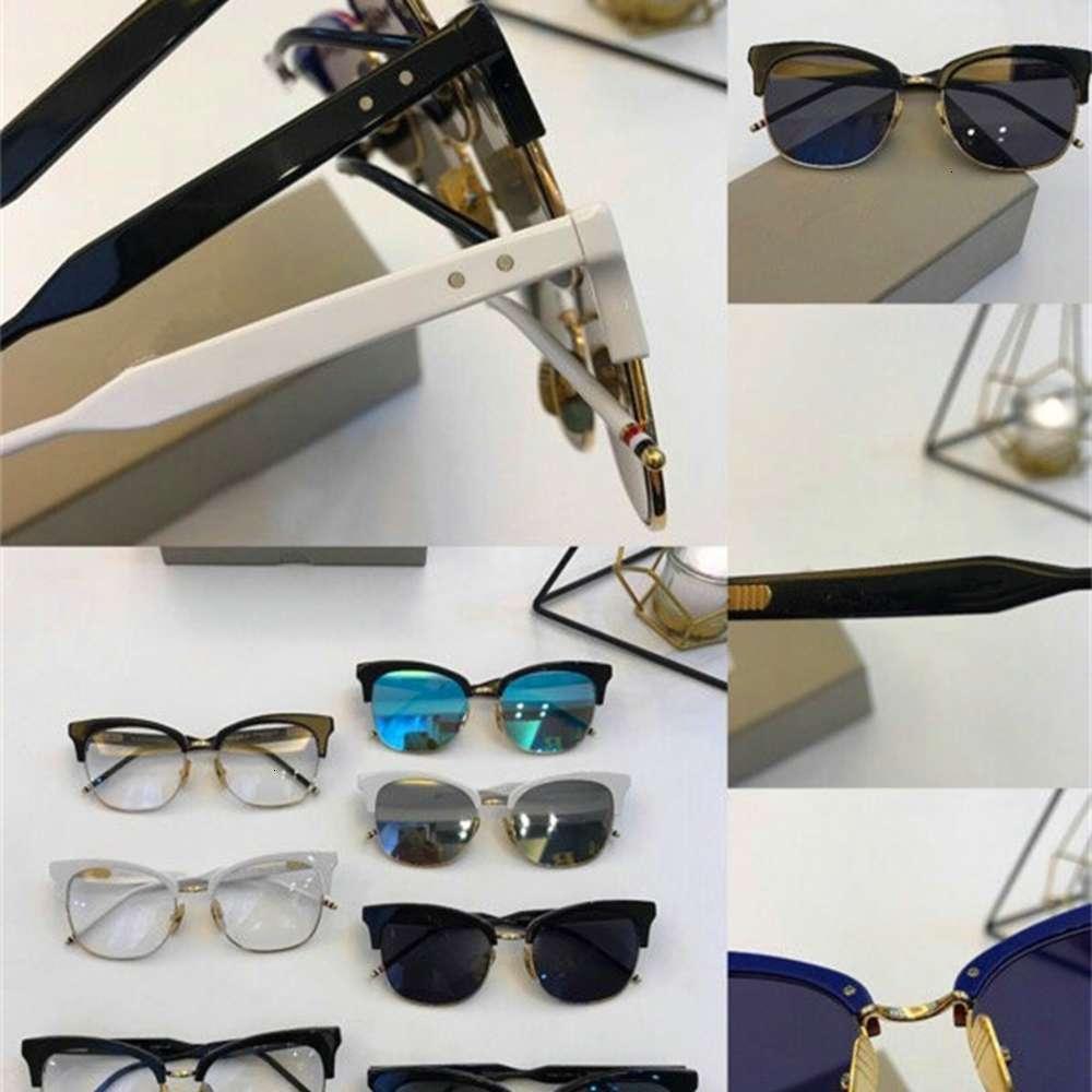 Nova York Marca Thom Óculos Fram ou Sunglass Homens Mulheres OptiaCl Olho De Olho Browne Clip Sunglass com caixa original