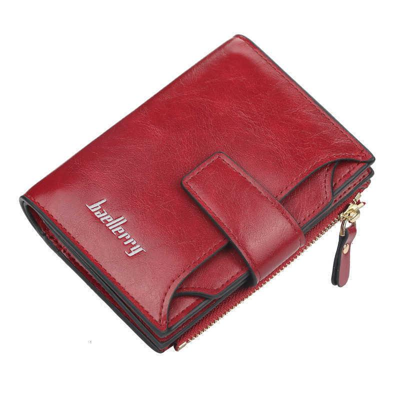 SaleLaLeblack на кожаный кошелек Малые Rits Короткие женские портфолионы ID кредитной карты Красный Уэльс для девочек