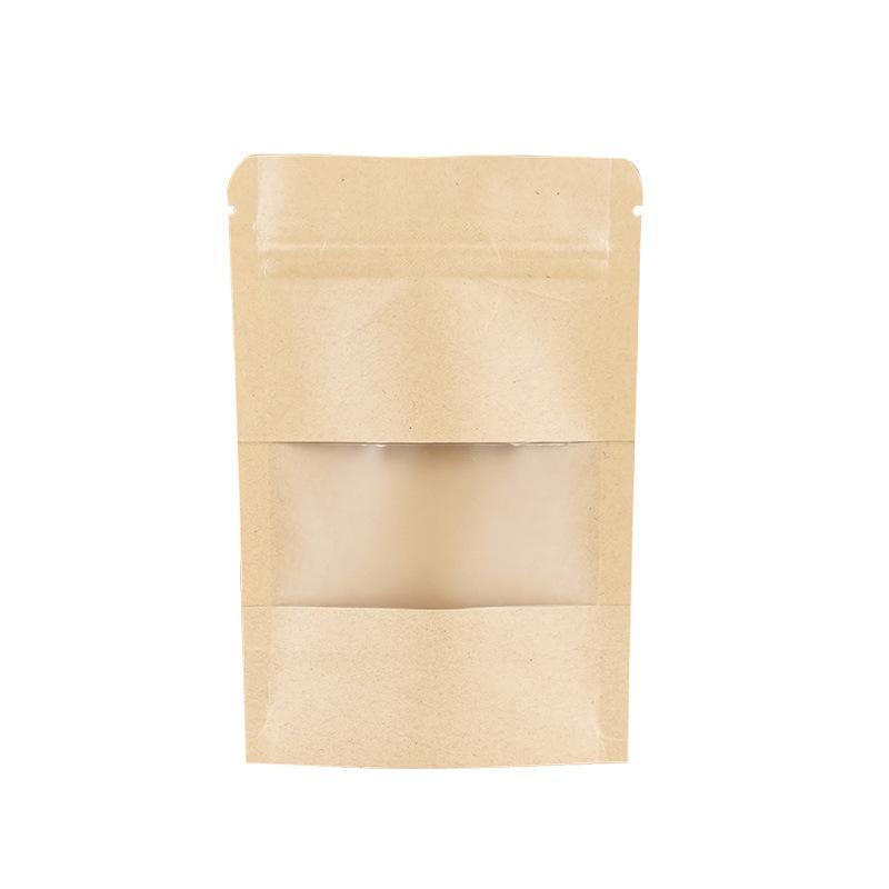 التعبئة مكتب المدرسة الأعمال الصناعية 300 قطع الكثير كرافت ورقة ziplock حزمة حقيبة woth واضح نافذة حزب البسيطة الحرف تخزين الحقائب إعادة
