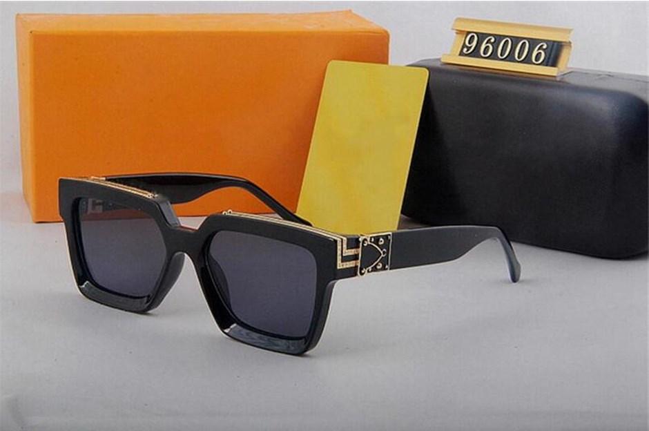 2021 NEW LUXUR Высокое качество Классические пилотные солнцезащитные очки дизайнер женские квадратные моды мужские женские солнцезащитные очки очки металлические линзы