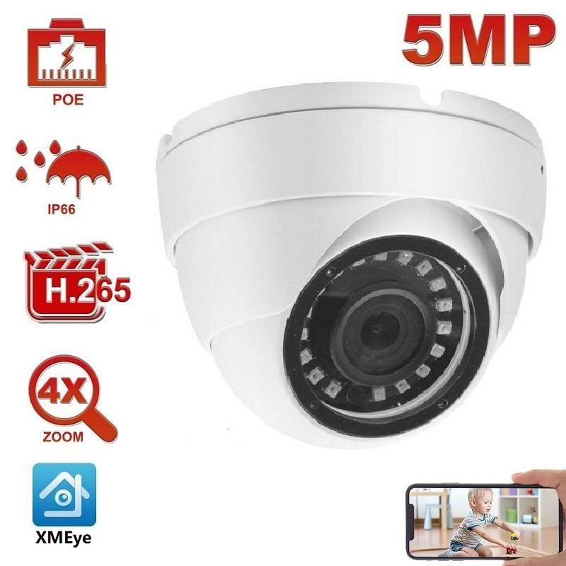 Kameras 2MP 5MP PoE IP-Sicherheitskamera Outdoor Onvif H.265 Turm-Dome IR 30m P2P-Plugplay mit NVR PTZ