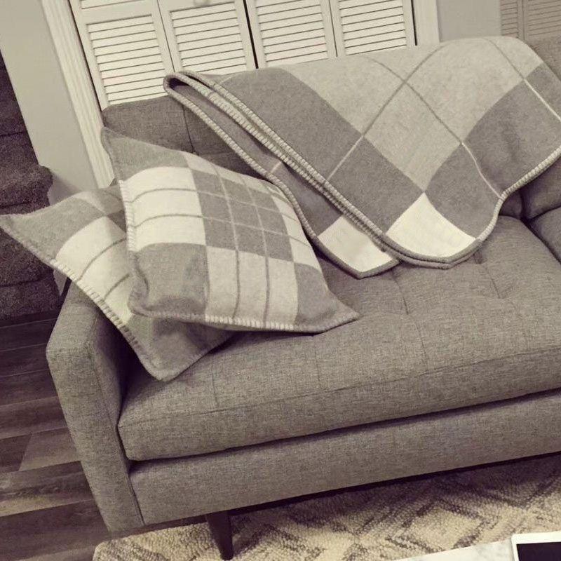 Высокое качество 45x45см Роскошная декоративная буква H подушка подушка Европейская королевская барочная кисточка творческий свободный корабль