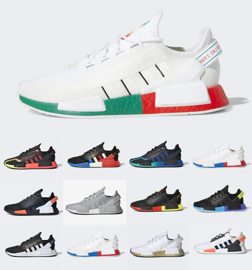 2021 NMD Runner R1 V2 Primeknit Triple Black White NMDS مصمم الاحذية للرجال النساء أوريو NMDS عداء الرياضة أحذية رياضية يورو 36-45