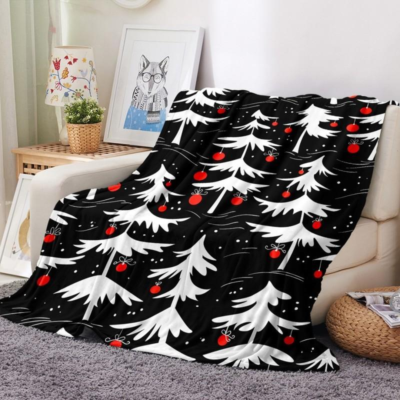 Blankets Cartoon Flannel Blanket Merry Christmas Gift For Girl Boys Teens 3D Print Kids Adults Quilts Home Decor Fashion Party