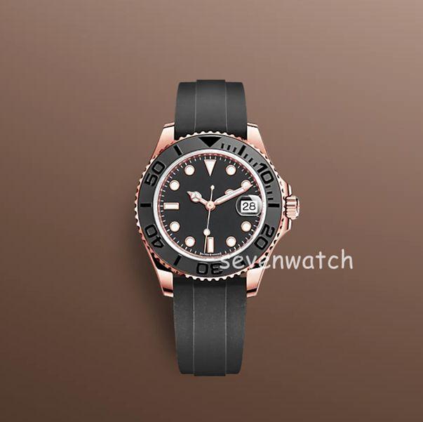40 мм в стиле силиконовые часы ремешок механическая нержавеющая сталь автоматическое движение мужчины Смотреть спортивный мужской циферблат reloj