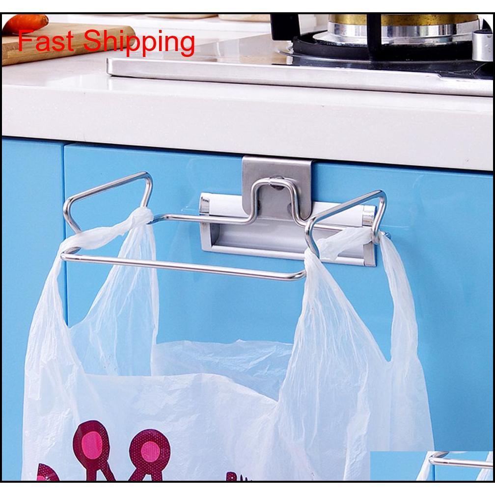 Подвесные мешки для мусора хранения организатор стойки из нержавеющей стали мусорное ведро держатель полотенце перчатки вешалка для кухни JLLUXR DUEUPSHOP STTUO