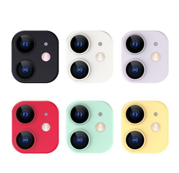 화면 카메라 보호자 강화 유리 렌즈 보호 필름 아이폰 11 12 미니 프로 최대 원래 색상