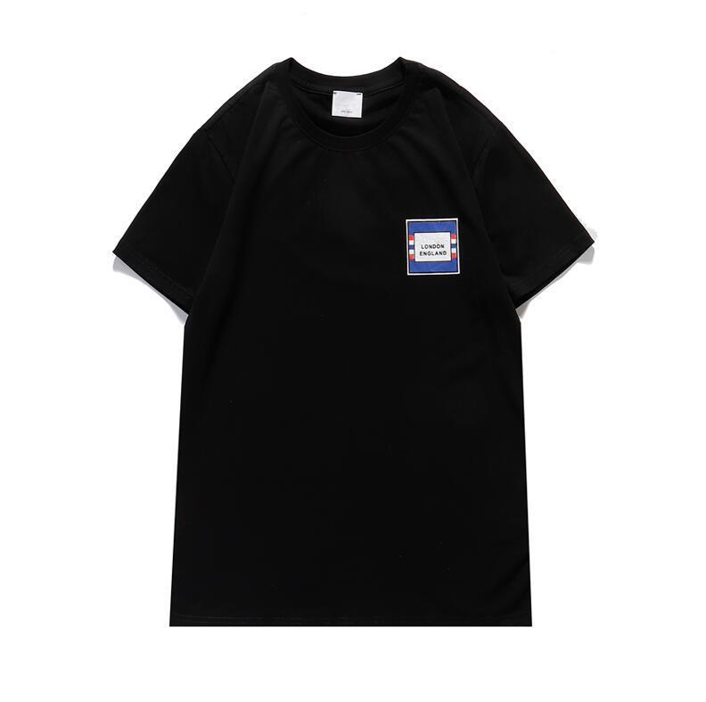 Summer Letter Print Mens Designer T-shirt moda manica corta Inghilterra T-shirt per uomo Casual T Shirt maschio