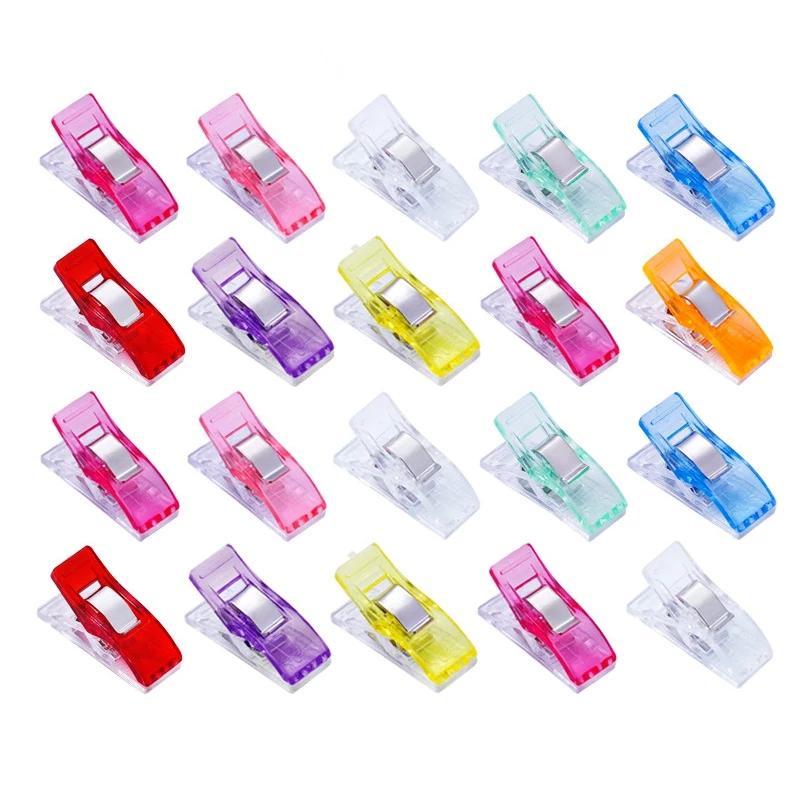 500pcs Multicolor Plastic Clips Tessuto Titolare del tessuto Holder for Fai da te Patchwork Trapuntatura Artigianale Strumenti per cucire Clip per maglieria Chiusura a maglia