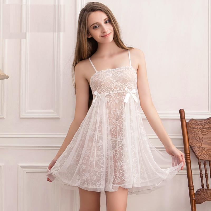 Pajamas underwear unightdress wrap грудь большие качели подвески юбка сексуальная соблазн кружева большой лук