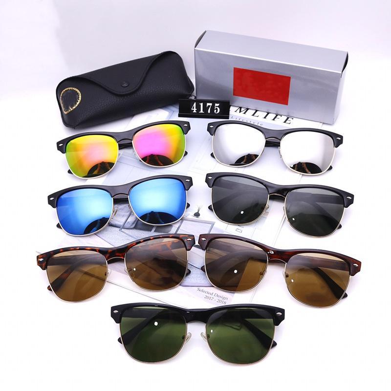 Hommes Femmes Designer Sunglasses Mode Classic Polarized Sun Lunettes de soleil de luxe Haute Qualité Conduire Eyewear Seven Couleurs avec Box Wholesale 4175