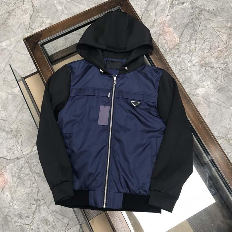 21SS homme Designers Vêtements Hoodie Triangle Triangle Hoodies Veste Mens d'hiver Manteaux Hommes Designers Sweaters Men S Vêtements Noir Bleu 07