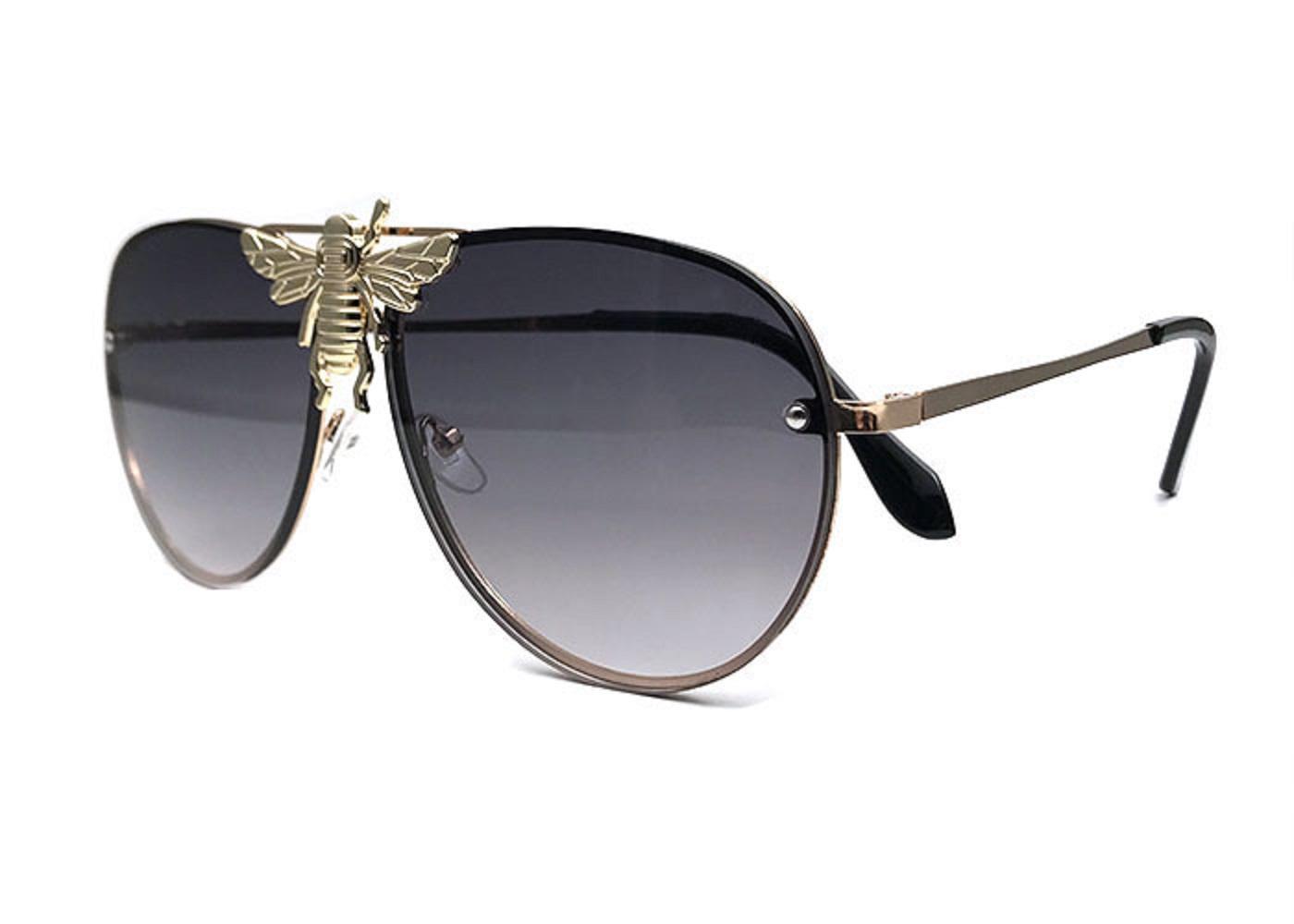 الفاخرة 2238 النظارات الشمسية الرجال النساء العلامة التجارية مصمم شعبية الأزياء نمط الصيف كبير مع النحل أعلى جودة عدسة حماية الأشعة فوق البنفسجية تأتي مع مربع