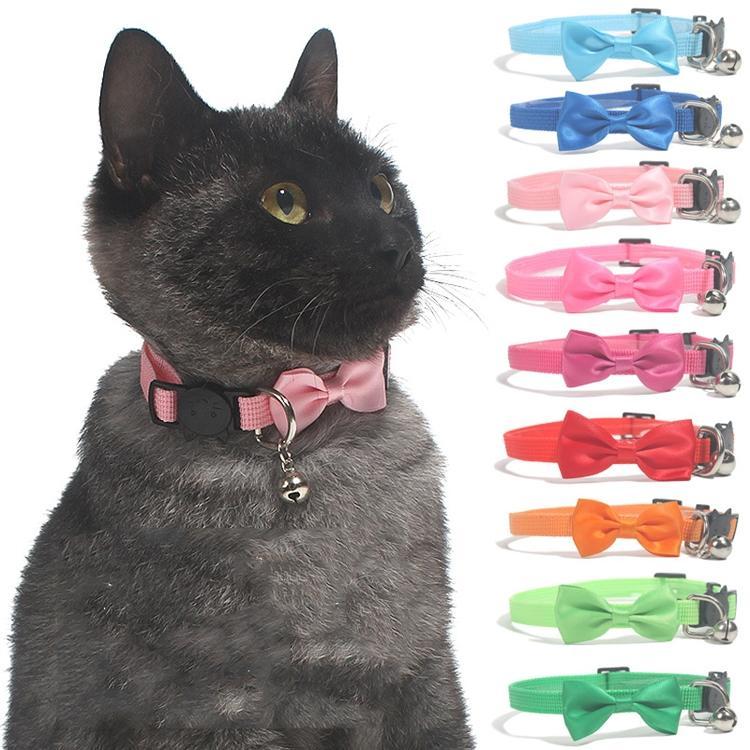 Caldo Cute Cat Collar Pet Collar Nylon Bell PET Bow Tie Collar Collar PET PRODOTTI T500462