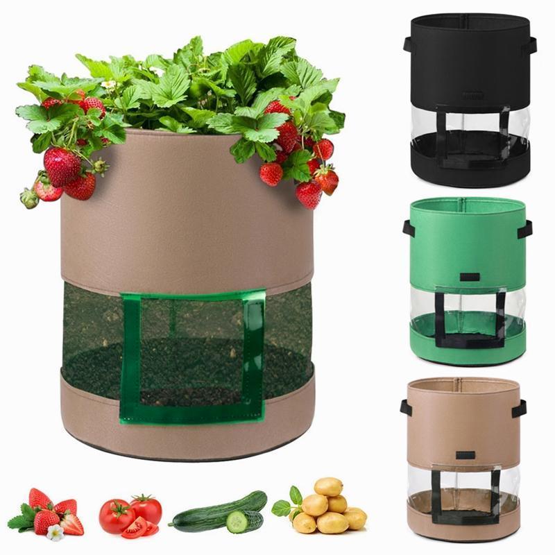 Sac de croissance de la pomme de terre de 7/10 gallon Pot de crise de jardin d'extérieur