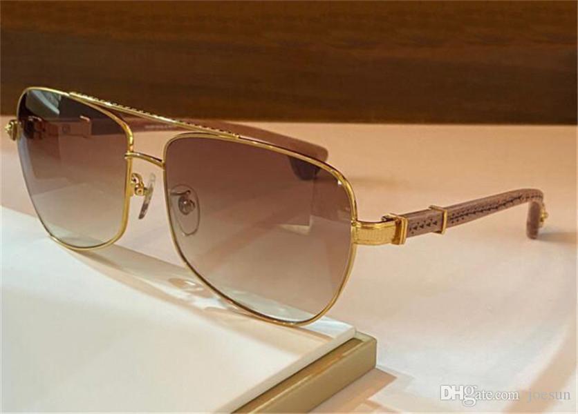 Novo Design Sunglasses Slapper Piloto Metal Frame Esculpido Templos De Madeira Retro Punk Design Top Quality Outdoor UV400 Óculos Protetores