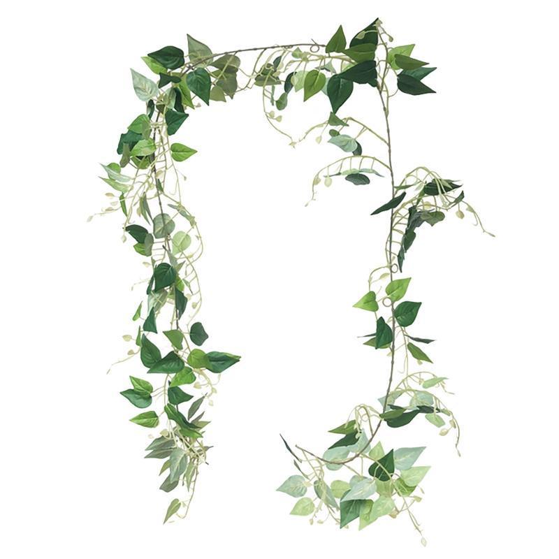 Artificial Verde Dill Folha Videira Ivy Garland Falsa Verdura Verdura Videiras Pendurar Plantas Para Casa Jardim Decoração De Partido de Casamento