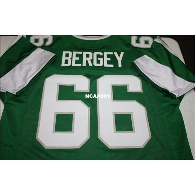 668 Bill Bergey # 66 Dikişli Dikişli Retro Jersey Tam Nakış Jersey Boyut S-4XL veya Özel Herhangi Bir Ad veya Numara Forması
