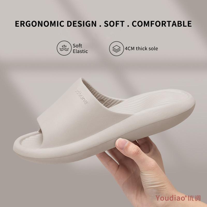 YouDiao EVA Terlik Erkek Ayakkabı Kapalı Banyo Slaytları Yaz Kalın Taban Yumuşak Kaymaz Kadınlar Terlik Sandalet Platformu Ayakkabı Erkekler 210226