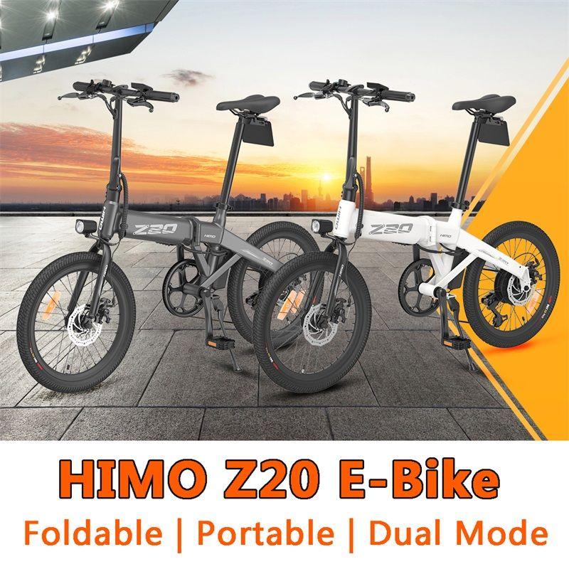 [EU Staock] Hido Pieghevole Pieghevole Bike Bike Electric Z20 Z16 EBIKE 250W ADO A16 A20 A20 350W Motore Grigio Bianco Elettrico-Bicyclee da Xiaomi Youpin
