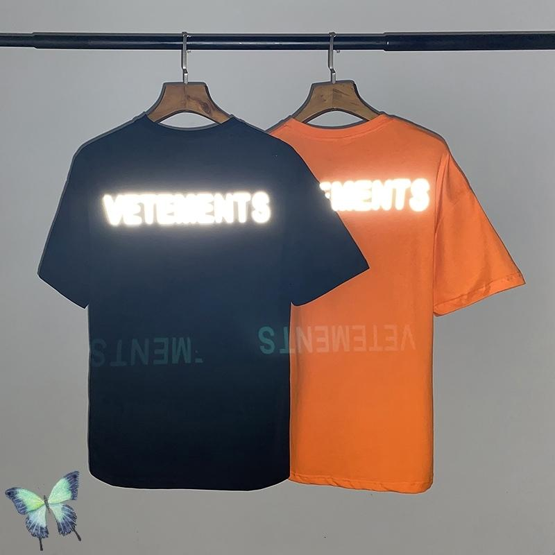 Novo verão 2021 vetement reflexão laser camisetas mulheres mulheres 100% algodão casual t camisa anti-guerra vetimentos de símbolo y8j6 6u1u