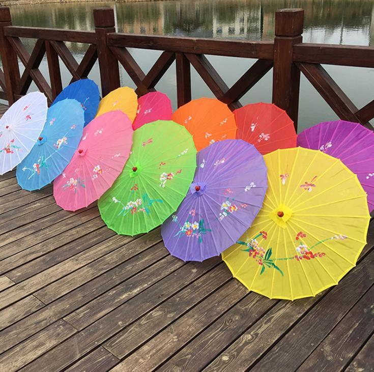 الكبار الصينية اليدوية النسيج مظلة أزياء السفر الحلوى اللون الشرقية مظلة مظلة الزفاف حزب الديكور أدوات SN1972