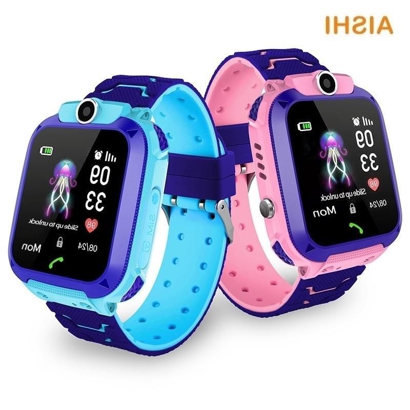 AD Card Phone IP67 LBS AISHI 2G SIM Call Q12 Waterproof SOS Kids Watch Baby Gift Smart Location Tracker Child Smartwatch G22 992