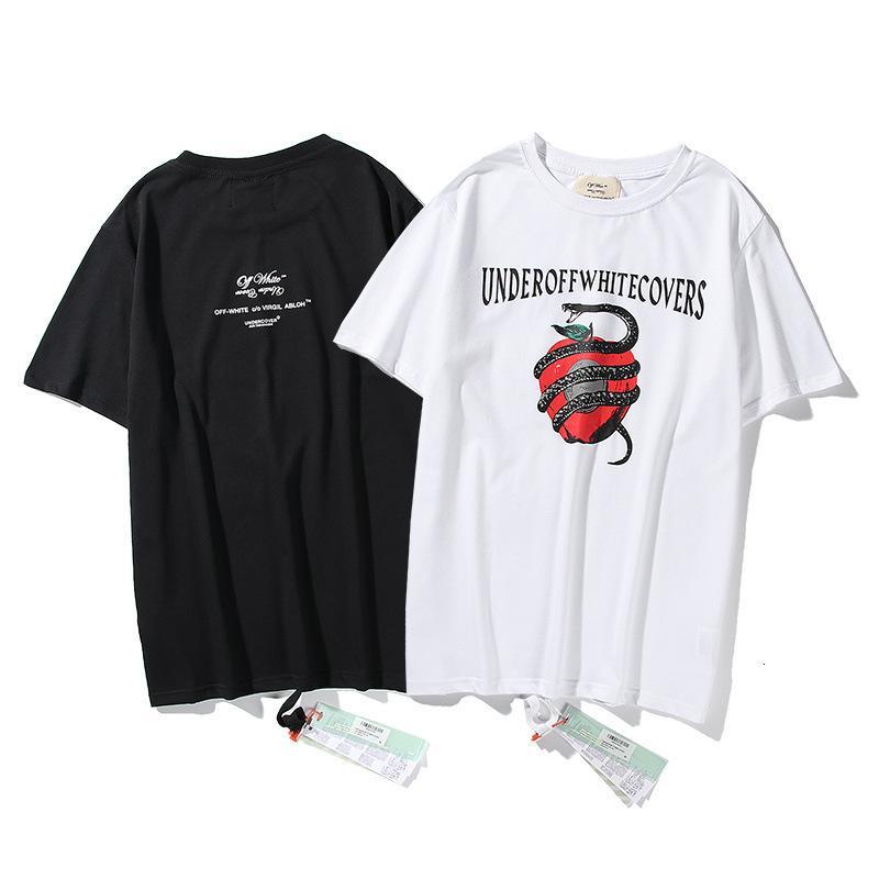 2020SS Summer Boys Hip Hop Trendy Snake Stampa T-shirt manica corta