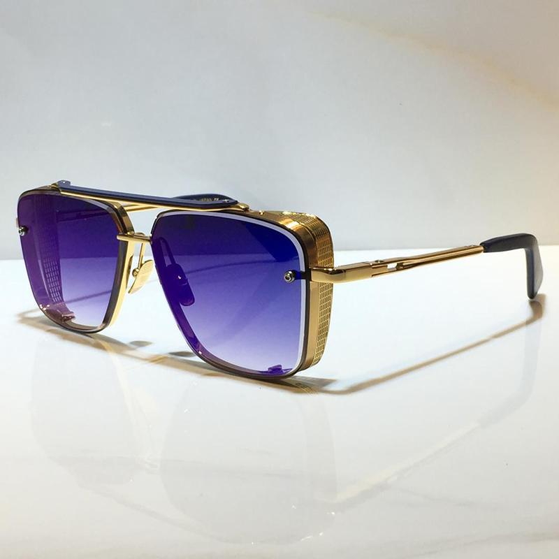 Lunettes de soleil adumbrales Métal Métal Vintage Sunglasses Square Square Square Square Square UV 400 Lens avec étui Hot Selling Modèle spécial 2021 Nouveau