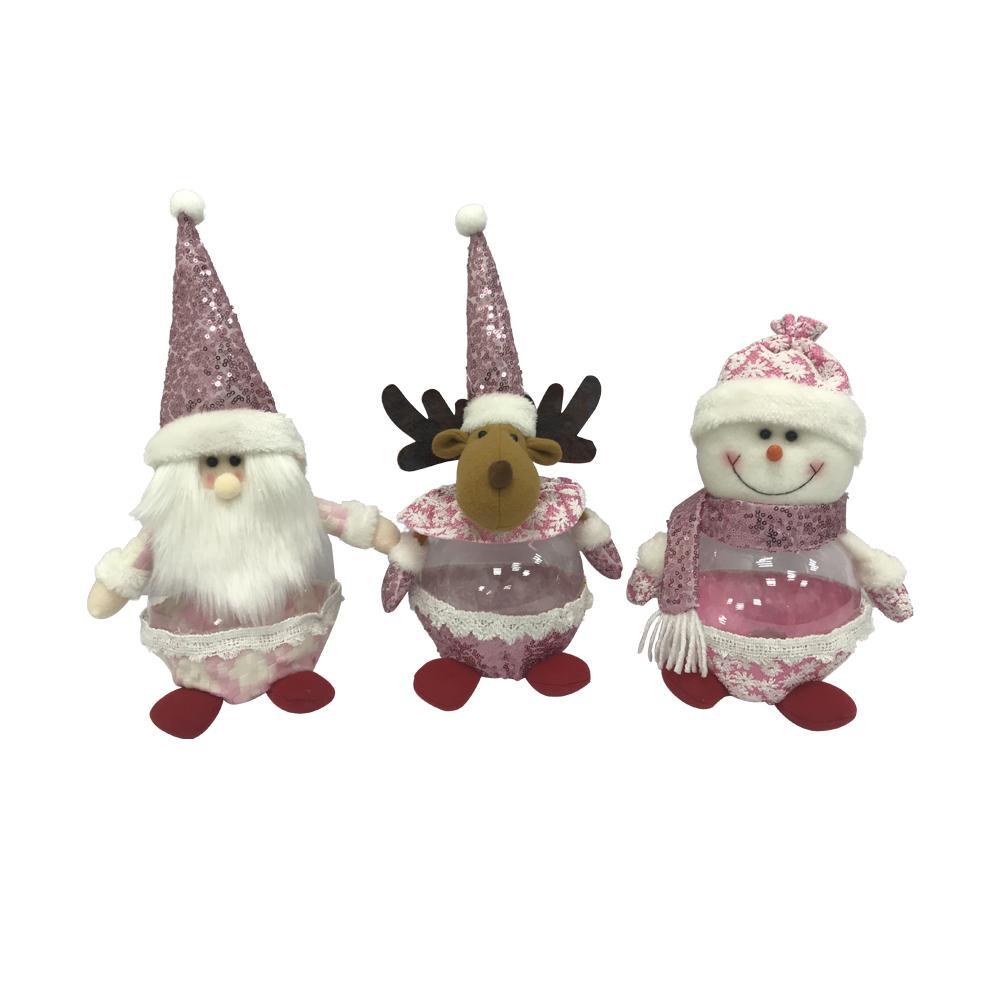 Рождественские и фестивалы Украшения Анджеле Детские Подарочные Конфеты Баночка Мигающие Огни Santa Snowman Лось орнаменты