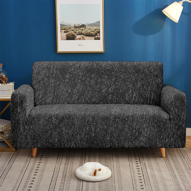 Coperture sedia Cover Strech Coperchio per soggiorno Sezione Sezione Elastica Slipcover L a forma di angolo a forma di angolo Protezione per mobili 1/2/3/4 Sedile