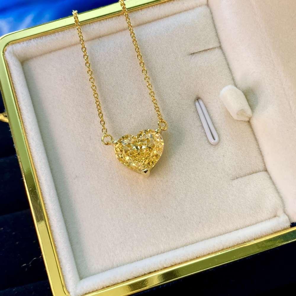 HBP moda jóias de luxo 2021 novo colar mulheres pura prata 925 ouro cadeia de pérola amor tamanho pingente tamanho 12 * 15mm