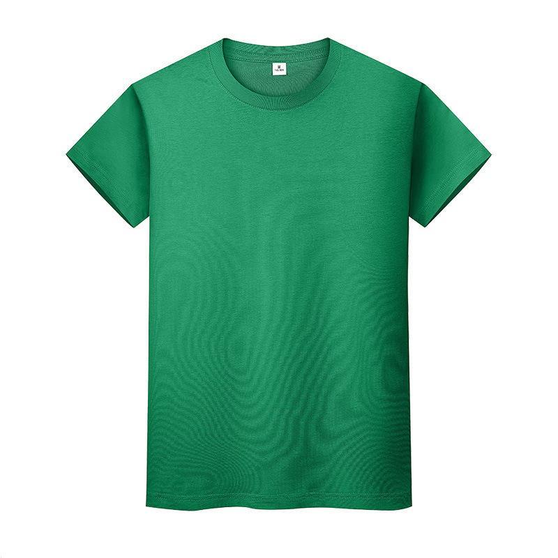Nouveau t-shirt de couleur solide col rond en coton à manches courtes et à manches courtes à manches longues 1x2e