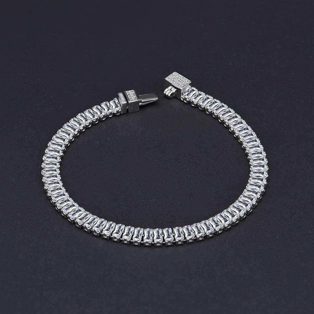 HBP fashion luxury jewelry 2021 new high carbon simulation full Bracelet 2 * 4mm row Diamond chain