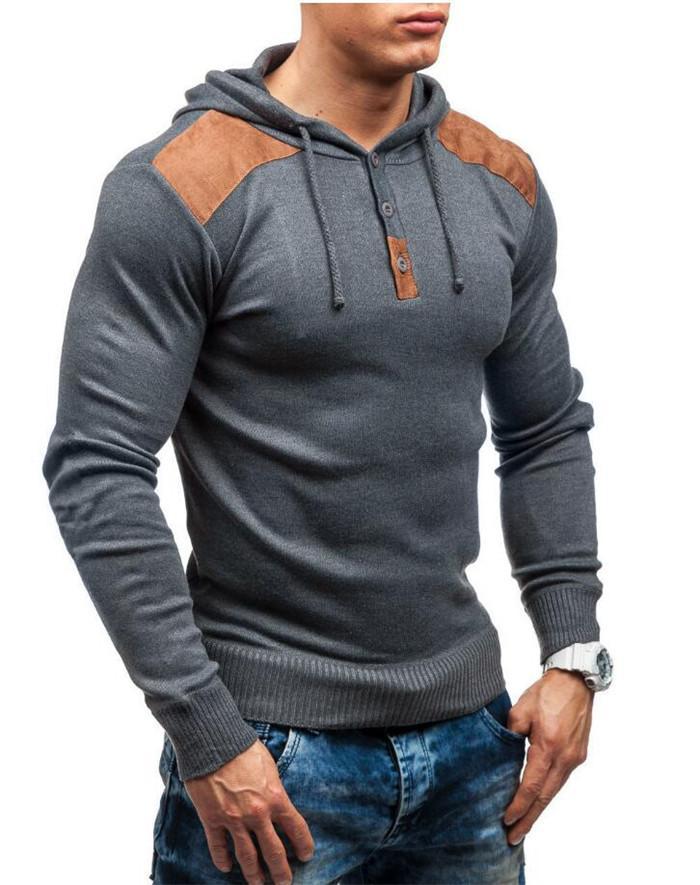 Замшевые лоскутные Мужские толстовки с длинным рукавом с капюшоном пуловер пуловерные толстовки сплошной цвет тонкий весна осень осенью мужчин топ 2021 размер M-XXXL