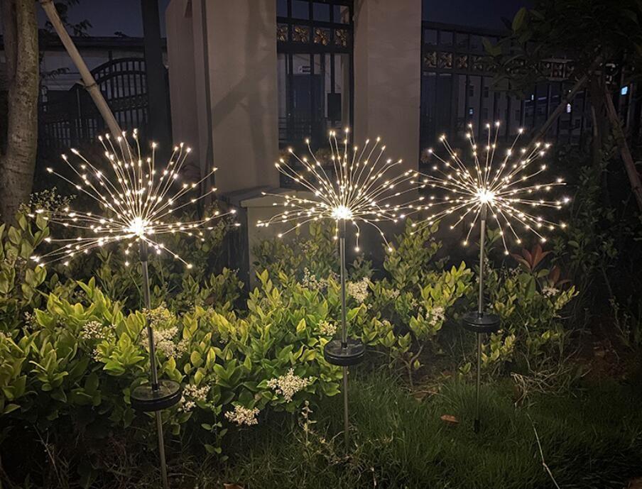 Noel Güneş Çimen Havai Fişek Işık Karahindiba Dize Işıkları Açık Su Geçirmez Christma Dekorasyon Lambası