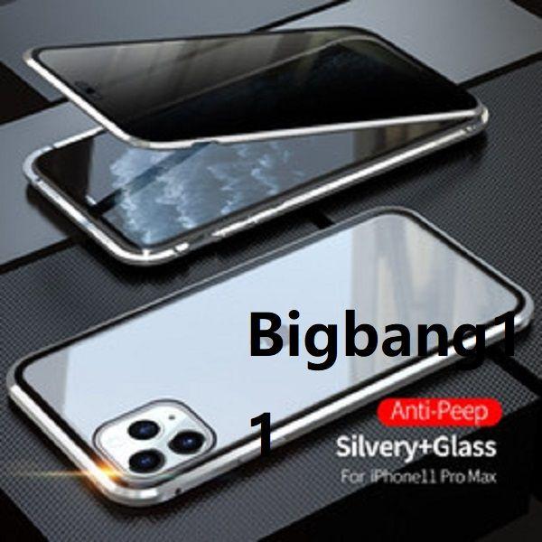 Yüksek Kaliteli Manyetik Kılıf iphone11 11 Pro 11Pro Max 2019 Coque 360 Çift Yan Temperli Cam Metal Telefon Fundas Kapak Mıknatıs Kılıfları