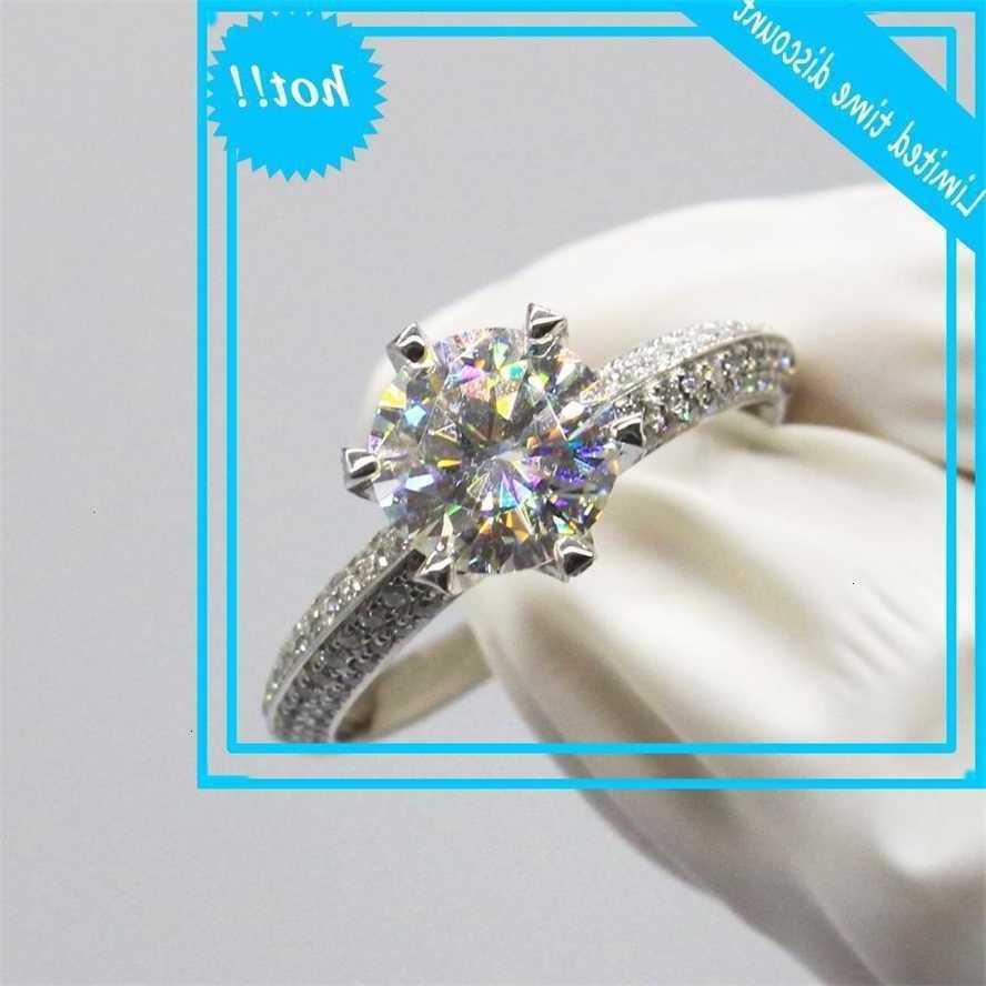 Роскошь 14K Белый Золотой D Цвет Романтический Стиль Свадьба Юбилейное кольцо Отличное Моисанит Ювелирные Изделия
